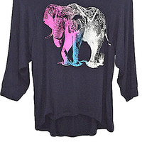 Technicolor Elephant Graphic Tee