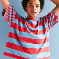 BDG Boston Stripe Ringer Tee - Urban Outfitters