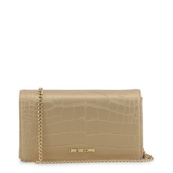 Love Moschino Yellow Leather Clutch Bag