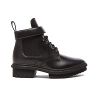 Balenciaga Unit Leather Ankle Boots in Black | FWRD