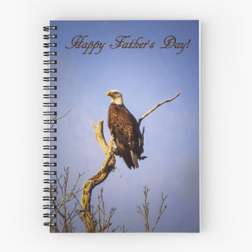 'Happy Father's Day' Spiral Notebook by Zina Stromberg