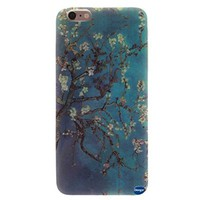 Iphone 6 Case,iphone 6 TPU Case,nancy's Shop **New** Fashion Pattern Design [Ultra Slim] [Perfect Fit] [Scratch Resistant] Premium TPU Gel Rubber Soft Skin Silicone Protective Case Cover for Iphone 6 (4.7)(not for Iphone 6 Plus)(apricot Blossom Tree Patter