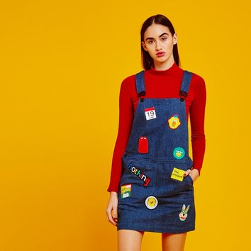 Don't Hug Me I'm Scared for Lazy Oaf Dungaree Dress