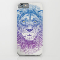 Face of a Lion iPhone & iPod Case by Rachel Caldwell
