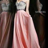 Sherri Hill Floor Length Strapless Dress