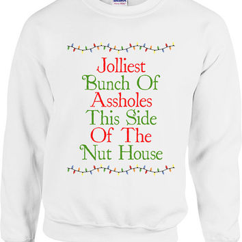 Funny Christmas Sweater Jolliest Bunch Of A**holes Sweater Christmas Vacation Christmas Gift Merry Christmas Holiday Unisex Hoodie - SA426