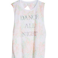 Dance All Night Twist Back Tank - Multi