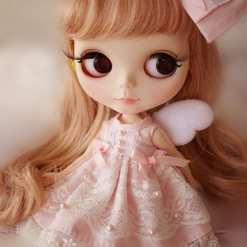 Blythe Pink Little Angel Dress,Hair Accessories is included