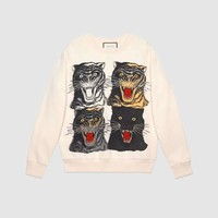GUCCI Tiger Face oversize sweatshirt