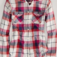 AEO Women's Favorite Light Flannel Shirt