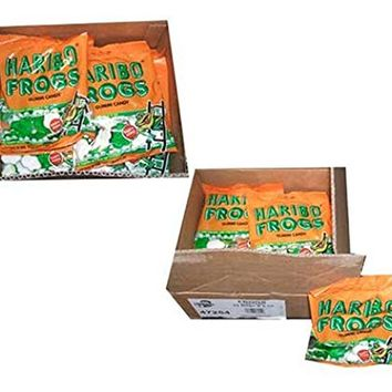 Haribo Gummi Candy, Frogs, 5-ounce Bags (Pack of 24)