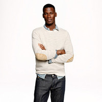 Slim rustic merino elbow-patch sweater - Rustic Merino - Men's sweaters - J.Crew