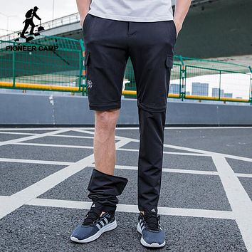 New design Detachable pants men clothing solid two wear male trousers top quality stretch pants