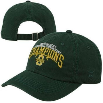 Oregon Ducks 2013 Pac 12 Basketball Tournament Champions hat NWT Top of the World