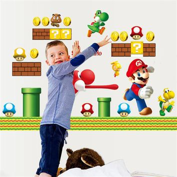 Super Mario party nes switch classical game wall decals  wall sticker boys room decals zooyoo7062 kindergarten home decoration 50x70 AT_80_8