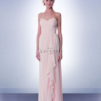 Bill Levkoff 987 Chiffon Strapless Sweetheart Ruched Bodice Bridesmaid Dress