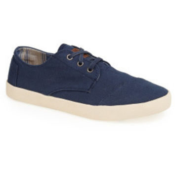 TOMS Navy Paseo Lace Up Casual Shoes Size 11