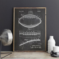 American Ball Print, Football Ball Art, Football Game Ball, Football Decor Print, Super Bowl NFL Art, Man Cave Printable, INSTANT DOWNLOAD