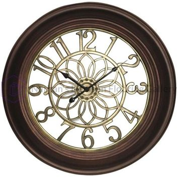 Westclox(R) 32946B 22.75 Wall Clock with Antique Bronze & Gold Finish