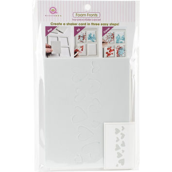 Queen & Co Foam Front Card Kit-Hearts