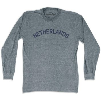 Netherlands City Vintage Long Sleeve T-shirt