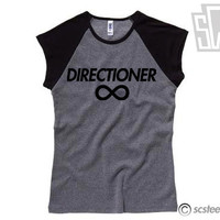 "One Direction ""Directioner"" Baseball Shirt - 1D Raglan Tee - Item: 011"