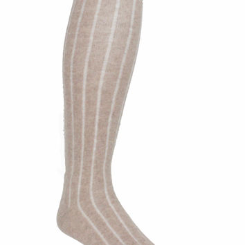 Caramel Combed Wool Knee High Socks