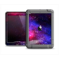 The Vivid Pink Galaxy Lights Apple iPad Mini LifeProof Nuud Case Skin Set