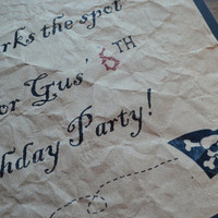 Pirate Birthday Party Sign Pirate Party Sign Birthday Party Map Sign Crinkled Pirate Map X marks the spot sign Skeleton Treasure Map sign
