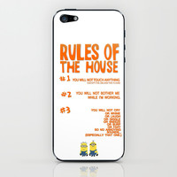 funny despicable me rules...gru iPhone & iPod Skin by studiomarshallarts