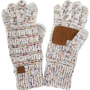 Knitted Gloves - Confetti Ivory
