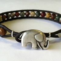 Lucky Elephant Beaded Bracelet Free by Jennasjewelrydesign on Etsy