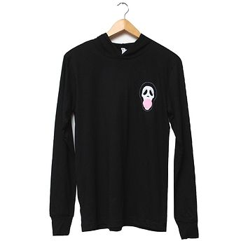 Ghostface Blowing Bubble Black T-Shirt Hoodie