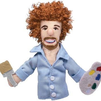 Bob Ross Magnetic Personality Finger Puppet - PRE-ORDER, SHIPS EARLY JULY