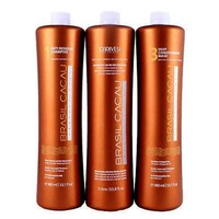 BRAZILIAN KERATIN BRASIL CACAU  HAIR SMOOTHING  3 X 250ml (8.4oz) FRACTION SALE KIT.