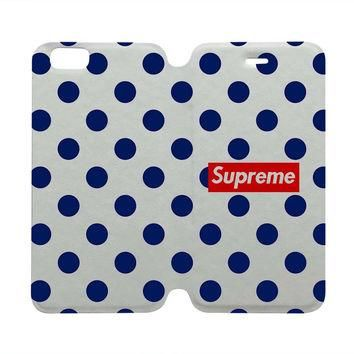 SUPREME POLKA DOTS Case Wallet iPhone 4/4S 5/5S 5C 6 Plus Samsung Galaxy S4 S5 S6 Edge