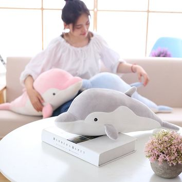 New High-quality goods dolphins pillow doll plush baby toys dolphins doll soft stuffed animal sea fish dolphin kids friends gift