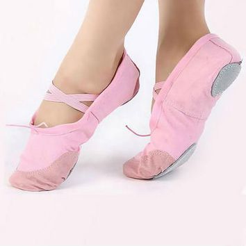 Canvas Flat  Dance Shoes Zapatos De Baile Dansschoenen Mujer Ballet Shoes For Girls Children Women Yoga Gym Chaussures De Danse