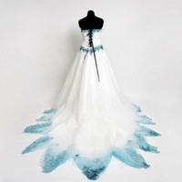 Custom Corpse Bride Wedding Dress Costume