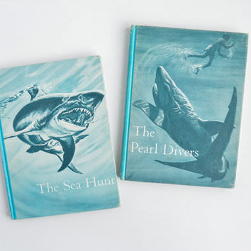 Vintage Book Set - The Deep-Sea Adventure Series - The Pearl Divers & The Sea Hunt - Harr Wagner - Joseph Maniscalco