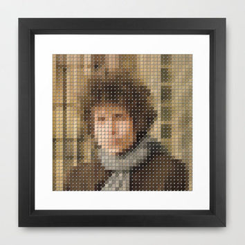Bob Dylan - Blonde on Blonde - Pantone Pop Framed Art Print by Trashdesign
