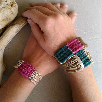 Woven yarn wrap bracelet for women, tribal cuff bracelet, gifts for women, gifts for her under 25, birthday gift, unique gifts for christmas