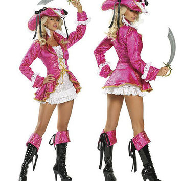 Cosplay Pink Pirate Games Halloween Uniform [9220290116]