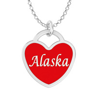 Alaska Heart Necklace in Solid Sterling Silver