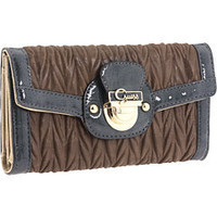 GUESS Brigit Multi Clutch Taupe Multi - 6pm.com