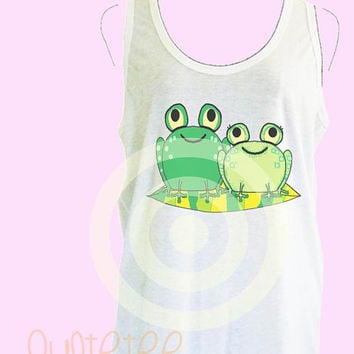Flog tank top S M L XL - women tops - White sleeveless tops - Flog tank - Flog love - Amphibians shirt