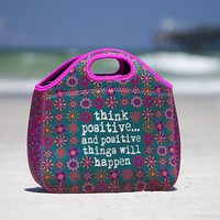 Think  Positive  Neoprene  Lunch  Bag  From  Natural  Life