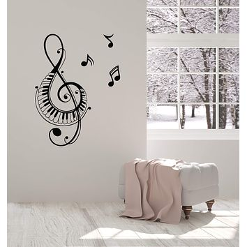 Vinyl Wall Decal Musical Notes Home Interior Music Room Decoration Stickers Mural (ig5861)