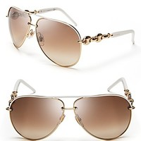 Gucci Chain Link Aviator Sunglasses