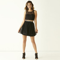 My Michelle® Sleeveless Crochet-Bust Top and Party Skirt 2-pc. Set - JCPenney